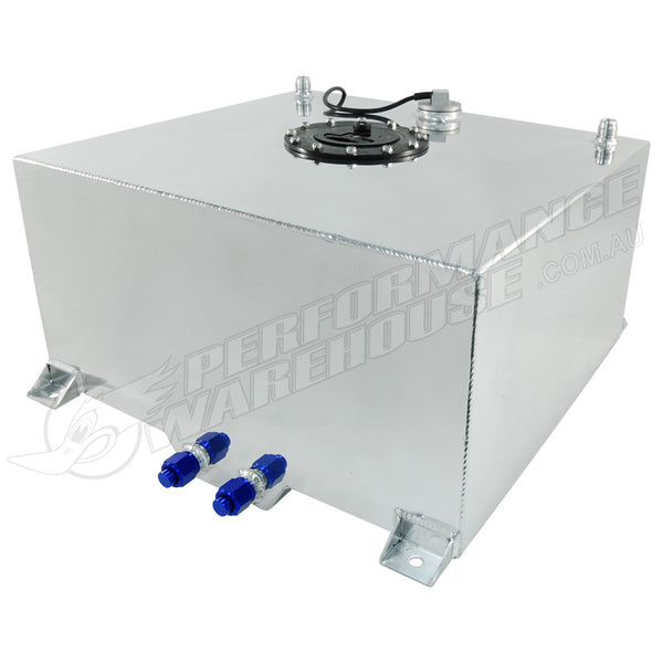 60 LITRE / 15 GALLON FUEL CELL POLISHED ALUMINIUM WITH SENDER