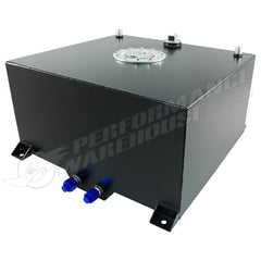 60 LITRE / 15 GALLON FUEL CELL BLACK POWDER COATED 3mm ALUMINIUM WITH SENDER & BILLET CAP