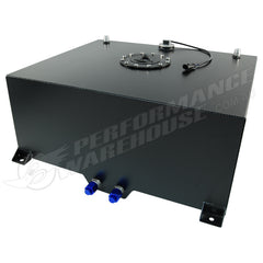 CAL CUSTOM 80 LITRE / 20 GALLON FUEL CELL BLACK POWDER COATED ALUMINIUM WITH SENDER