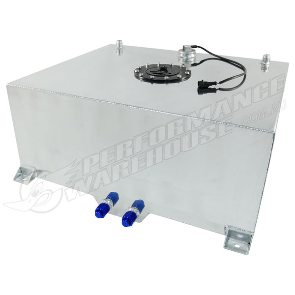 CAL CUSTOM 80 LITRE / 20 GALLON FUEL CELL POLISHED ALUMINIUM WITH SENDER