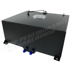 CAL CUSTOM 80 LITRE / 20 GALLON FUEL CELL BLACK POWDER COATED ALUMINIUM WITH SENDER & BILLET CAP