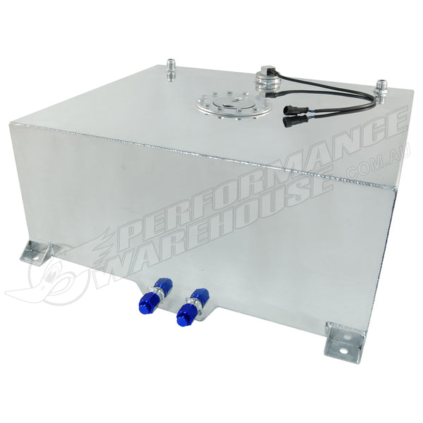 CAL CUSTOM 80 LITRE / 20 GALLON FUEL CELL POLISHED ALUMINIUM WITH SENDER & BILLET CAP