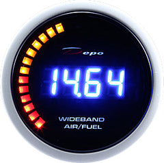 DEPO RACING WIDEBAND AIR/FUEL RATIO GAUGE 52MM WITH 02 SENSOR, RACING, DRIFT