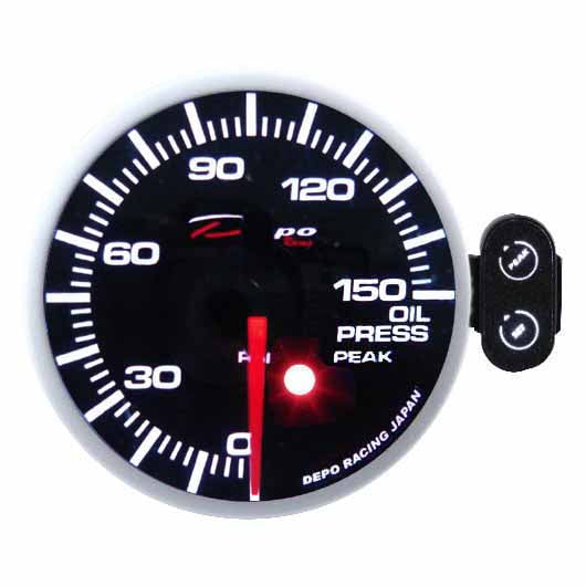 DEPO RACING OIL PRESSURE STEPPER MOTOR ELECTRIC GAUGE 52MM, DRIFT, RACE