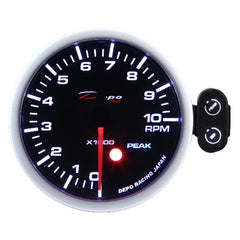 DEPO RACING TACHOMETER STEPPER MOTOR GAUGE 52MM, RACE, DRIFT, PERFORMANCE