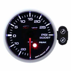 DEPO RACING BOOST PSI STEPPER MOTOR GAUGE 60MM, RACE, DRIFT, PERFORMANCE, TURBO