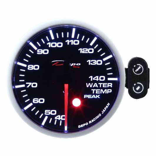 DEPO RACING WATER TEMP STEPPER MOTOR GAUGE 60MM, RACE, DRIFT, PERFORMANCE