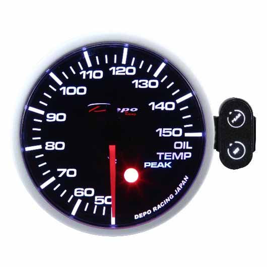 DEPO RACING OIL TEMP STEPPER MOTOR GAUGE 60MM, RACE, DRIFT, PERFORMANCE