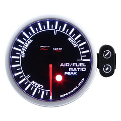 DEPO RACING AIR FUEL RATIO STEPPER MOTOR GAUGE 52MM, RACE, DRIFT, PERFORMANCE