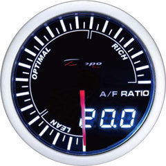 DEPO RACING AIR FUEL RATIO STEPPER MOTOR GAUGE 60MM DUAL VIEW, RACE, DRIFT