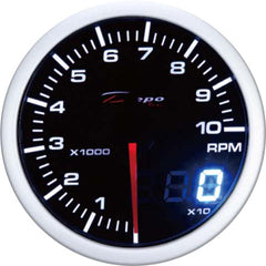 DEPO RACING TACHOMETER STEPPER MOTOR GAUGE 60MM DUAL VIEW, RACE, DRIFT