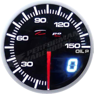 DEPO RACING OIL PRESSURE STEPPER MOTOR GAUGE 60MM DUAL VIEW
