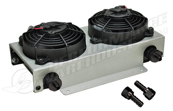 DERALE 19 ROW HYPER-COOL DUAL COOL REMOTE COOLER, -6AN 13740