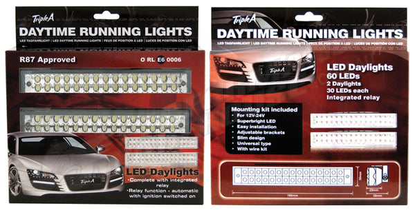 LED DAYTIME RUNNING LIGHTS 60 LED EXTRA BRIGHT DAYLIGHTS