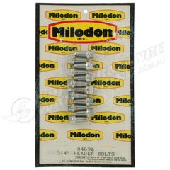 MILODON CHROME HEADER BOLT SUITS SMALL BLOCK CHEV, BIG BLOCK CHRYSLER, PONTIAC