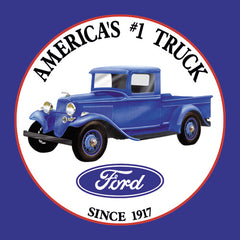 FORD TRUCKS - ROUND METAL TIN SIGN 29.8CM DIAMETER GENUINE AMERICAN MADE
