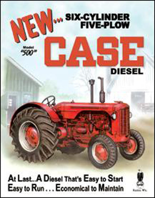 CASE - 550 DIESEL - LARGE METAL TIN SIGN 40.6CM X 31.7CM GENUINE AMERICAN MADE