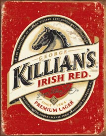 KILLIAN'S BEER LOGO - LARGE METAL TIN SIGN 40.6CM X 31.7CM GENUINE AMERICAN MADE