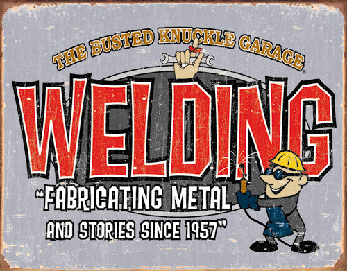 BKG - WELDING - LARGE METAL TIN SIGN 31.7CM X 40.6CM GENUINE AMERICAN MADE