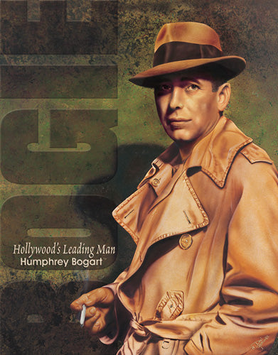BOGART - HOLLYWOOD'S LEADING MAN - LARGE METAL TIN SIGN 40.6CM X 31.7CM