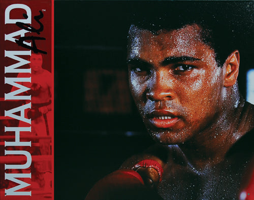 MUHAMMAD ALI - LARGE METAL TIN SIGN 31.7CM X 40.6CM GENUINE AMERICAN MADE