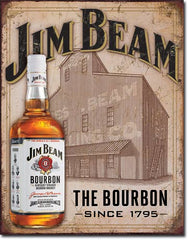 JIM BEAM - STILL HOUSE - LARGE METAL TIN SIGN 40.6CM X 31.7CM GENUINE AMERICAN MADE