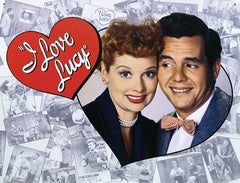 I LOVE LUCY - TRIBUTE - LARGE METAL TIN SIGN 31.7CM X 40.6CM GENUINE AMERICAN MADE
