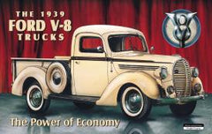 FORD '39 PICKUP - LARGE METAL TIN SIGN 31.7CM X 40.6CM GENUINE AMERICAN MADE