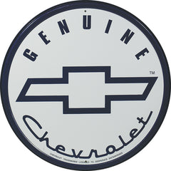 GENUINE CHEVROLET - ROUND METAL SIGN 29.8CM DIAMETER GENUINE AMERICAN MADE
