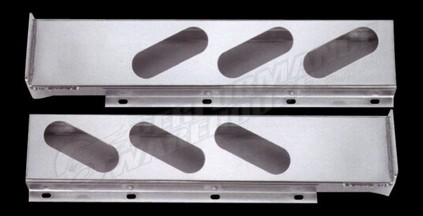 CHROME STEEL 2 PIECE LIGHT BARS FOR OVAL LIGHTS 1 PAIR