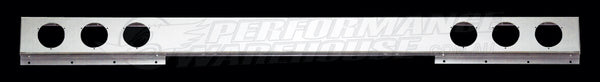 TRUCK STAINLESS STEEL ONE PIECE LIGHT BAR 94 INCH LONG 4 INCH ROUND CUT OUTS