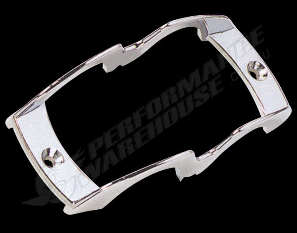 DIE-CAST CHROME MARKER LIGHT LENS GUARD 5 1/2 INCHES LONG