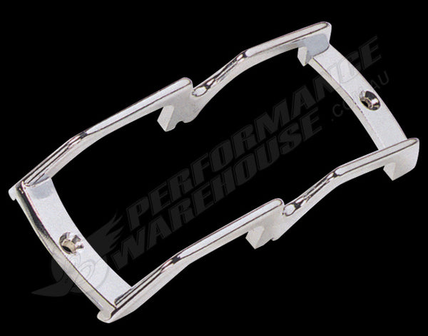 DIE-CAST CHROME MARKER LIGHT LENS GUARD 7 1/2 INCHES LONG
