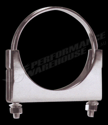 CHROME PLATED HEAVY DUTY STEEL 4 INCH FLAT EXHAUST CLAMP TRUCK BY OUTLAW