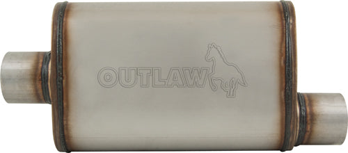 "OUTLAW T-409 STAINLESS STEEL OFFSET MUFFLER CENTRE/OFFSET 2-1/2"" PERFORMANCE"