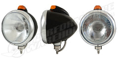 "Black ""GUIDE"" Headlight H4 Halogen w/Amber LED Top Light Amber Lens"