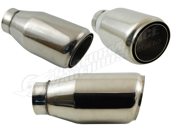 TANABE SLANT S.S. EXHAUST TIP EXTENSION  68mm INLET 102mm OUTLET 220mm OVERALL