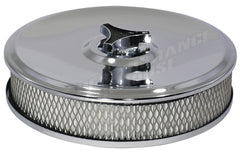"AIR CLEANER ROUND 9"" X 2"" CHROME HOLLEY, EDELBROCK"