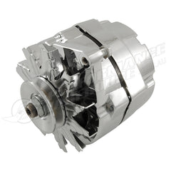 CHROME GM STYLE 3 WIRE 100AMP INTERNAL REGULATOR ALTERNATOR
