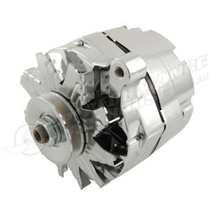 CHROME FORD 1G STYLE 100AMP ALTERNATOR WITH INTERNAL REGULATOR