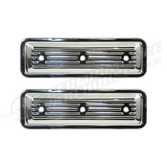 CHROME FINNED SIDE PLATE COVERS 6CYL 149 161 173 179 186 202 RED BLUE BLACK PAIR