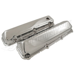 FORD BIG BLOCK V8 429 460 CHROME STEEL VALVE COVERS PAIR HOT ROD RAT ROD