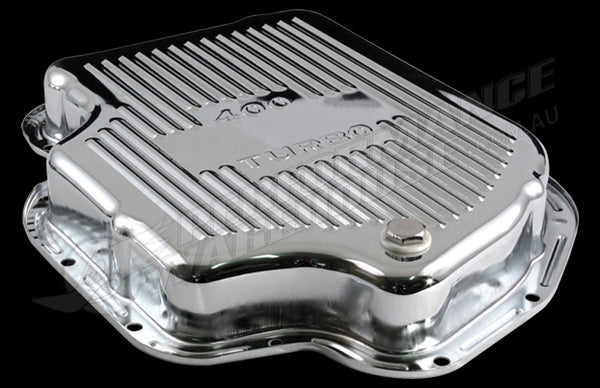 CHROME STEEL GM TH400 AUTOMATIC TRANSMISSION PAN