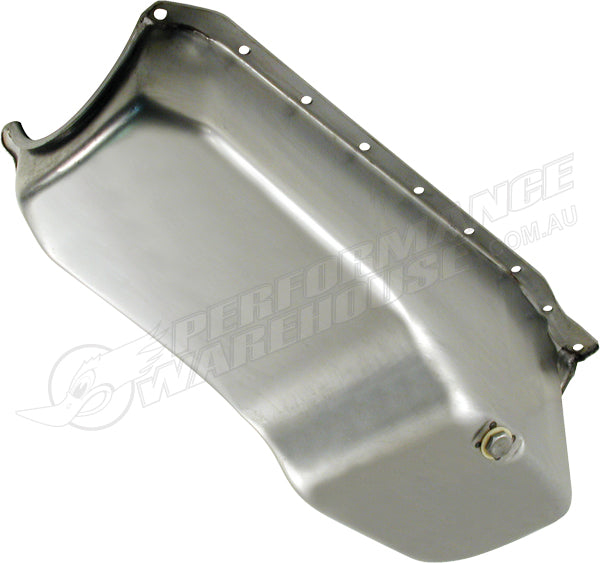 SB CHEV 350 OIL PAN SUMP RIGHT-HAND DIPSTICK 1985 UP