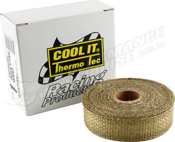 THERMO-TEC ORIGINAL EXHAUST INSULATING WRAP 1 IN. WIDE 15 FT. ROLL 11151