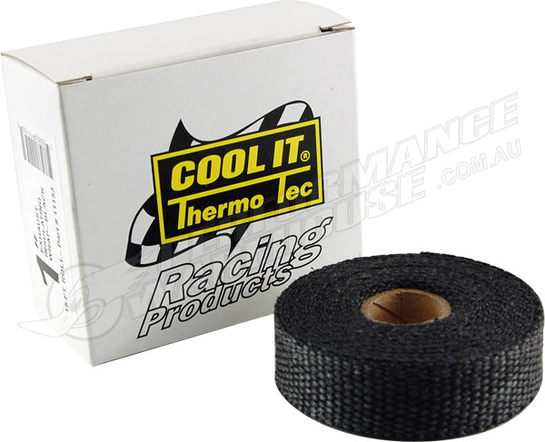 THERMO-TEC BLACK GRAPHITE EXHAUST INSULATING WRAP 1 IN. WIDE 15 FT. ROLL 11153