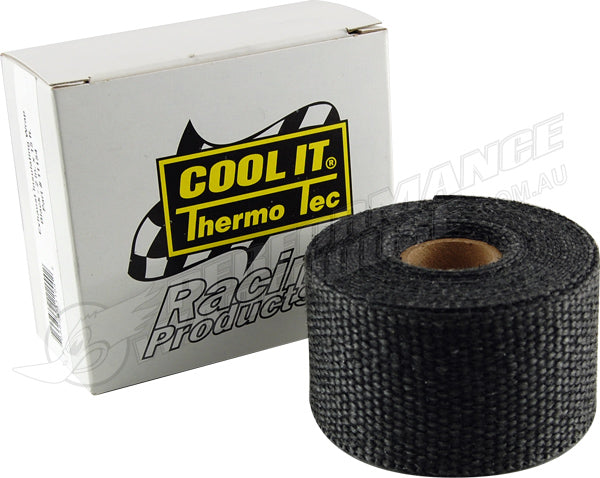 THERMO-TEC BLACK GRAPHITE EXHAUST INSULATING WRAP 2 IN. WIDE 15 FT. ROLL 11154