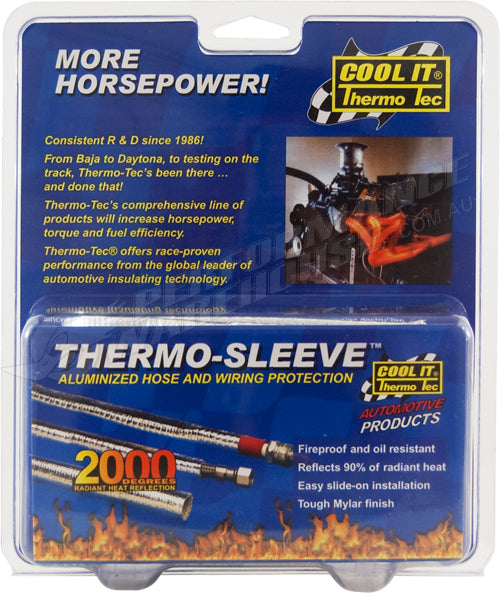 THERMO-TEC THERMO-SLEEVE 3 FT. 1/4 IN.-1/2 IN. SAE 4 O.D. 7/16 IN. 14005