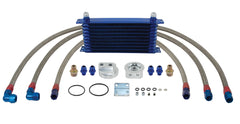 OIL COOLER WITH COMPLETE KIT 10 ROW W/ PROVISION FOR OIL PRESSURE & OIL TEMPERATURE SENSORS