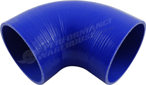"TAKASHI BLUE SILICONE HOSE 90 DEGREE STANDARD ELBOW 4½"" (114mm) AIR INTAKE TURBO"